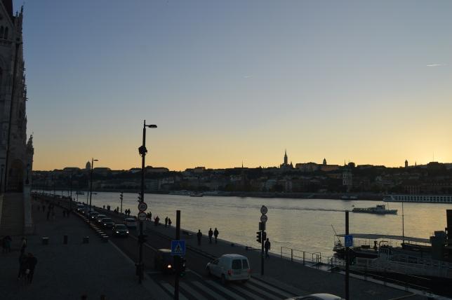 The Danube at dusk